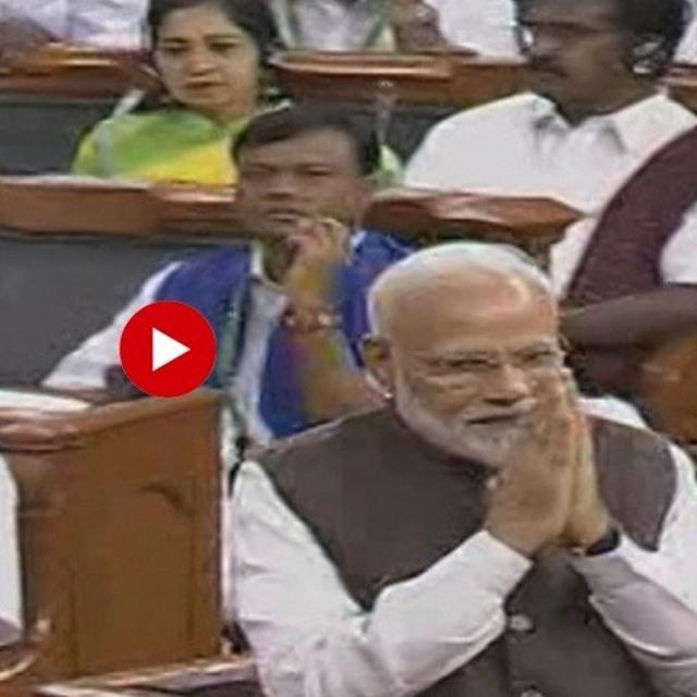 WATCH: Desk-thumping cheers greet PM Modi as he takes oath as a member of the 17th Lok Sabha