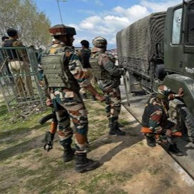 IED TERROR ATTACK ON ARMY VEHICLE IN JAMMU AND KASHMIR'S PULWAMA