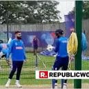 WORLD CUP 2019 | SKIPPER VIRAT KOHLI GIVES SOME TIPS TO HARDIK PANDYA AS THE PLAYERS SWEAT IT OUT IN THE NETS AHEAD OF THEIR CLASH AGAINST AFGHANISTAN