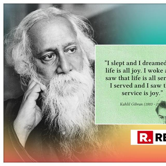 GO TO SCHOOL IMRAN KHAN! IN MASSIVE GOOF-UP, PAKISTAN'S PRIME MINISTER ATTRIBUTES RABINDRANATH TAGORE'S QUOTE TO KAHLIL GIBRAN