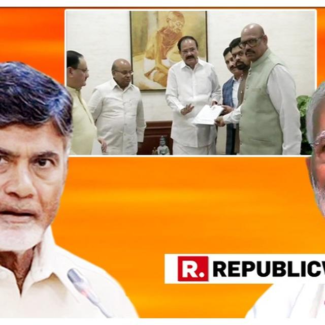 SENSATIONAL: IN A MASSIVE COUP, RAJYA SABHA UNIT OF CHANDRABABU NAIDU'S TDP PASSES A RESOLUTION TO MERGE ITS LEGISLATURE PARTY WITH THE BJP