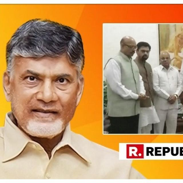 HERE'S CHANDRABABU NAIDU'S FIRST RESPONSE ON TDP'S RAJYA SABHA UNIT MERGING WITH BJP
