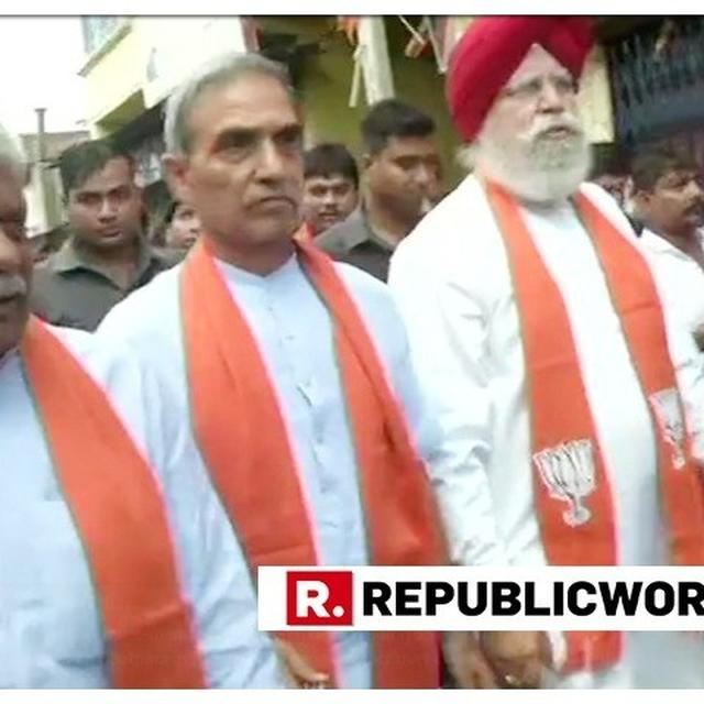 THREE-MEMBER BJP DELEGATION LED BY SS AHLUWALIA REACHES BHATPARA AFTER CLASHES CLAIM TWO LIVES IN WEST BENGAL