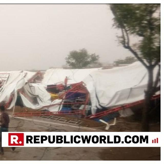 PANDAL COLLAPSES AT A RELIGIOUS EVENT IN RAJASTHAN'S BARMER KILLING ALMOST 14 PEOPLE, SEVERAL INJURED