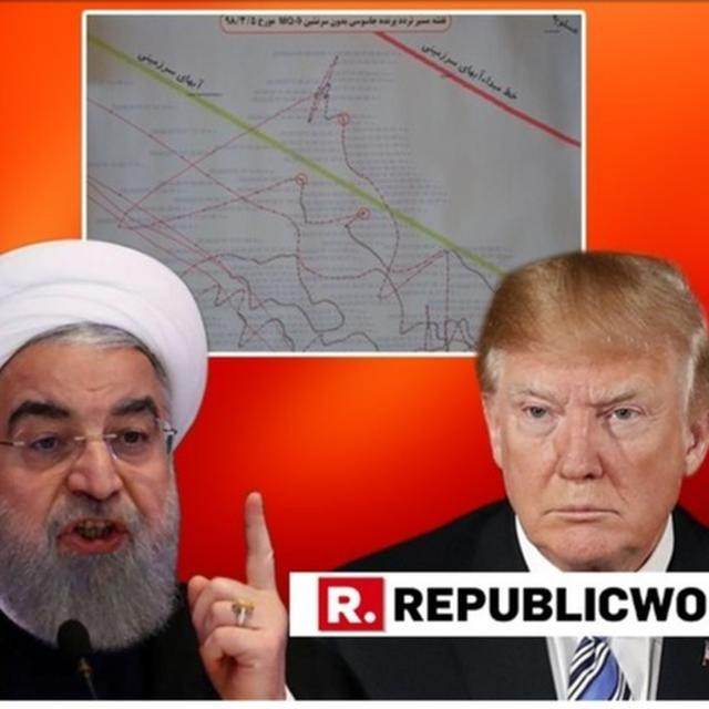 IRAN FOREIGN MINISTER SHARES EVIDENCE OF US DRONE ENCROACHING AIRSPACE, ACCUSES 'B-TEAM' OF ALMOST TRAPPING DONALD TRUMP INTO WAR