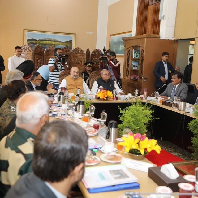 HOME MINISTER AMIT SHAH HELD A DEVELOPMENT REVIEW MEETING IN JAMMU AND KASHMIR . DETAILS HERE.