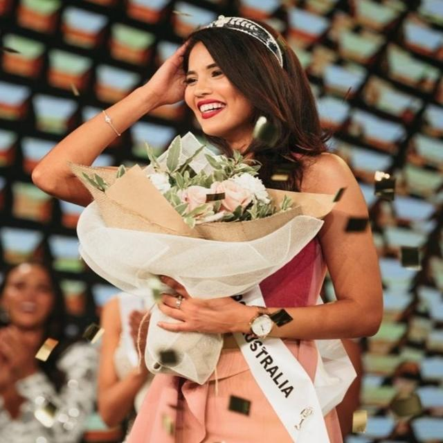 INDIAN WOMAN CROWNED MISS UNIVERSE AUSTRALIA