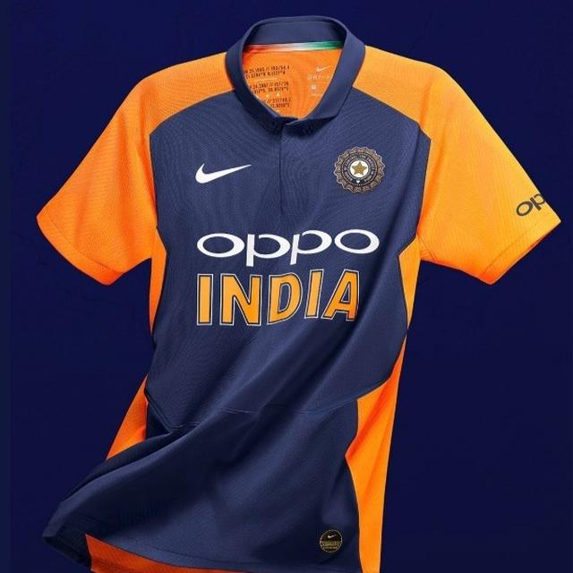 REVEALED: HERE'S OUR FIRST LOOK AT TEAM INDIA'S ORANGE JERSEY FOR THE WORLD CUP ENCOUNTER WITH ENGLAND