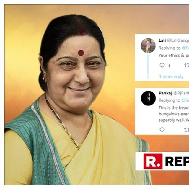 'LIKE A BOSS': NETIZENS LAUD FORMER EAM SUSHMA SWARAJ FOR HER HONESTY, SINCERITY & HARDWORK AFTER SHE TWEETS ON VACATING HER OFFICIAL RESIDENCE IN DELHI