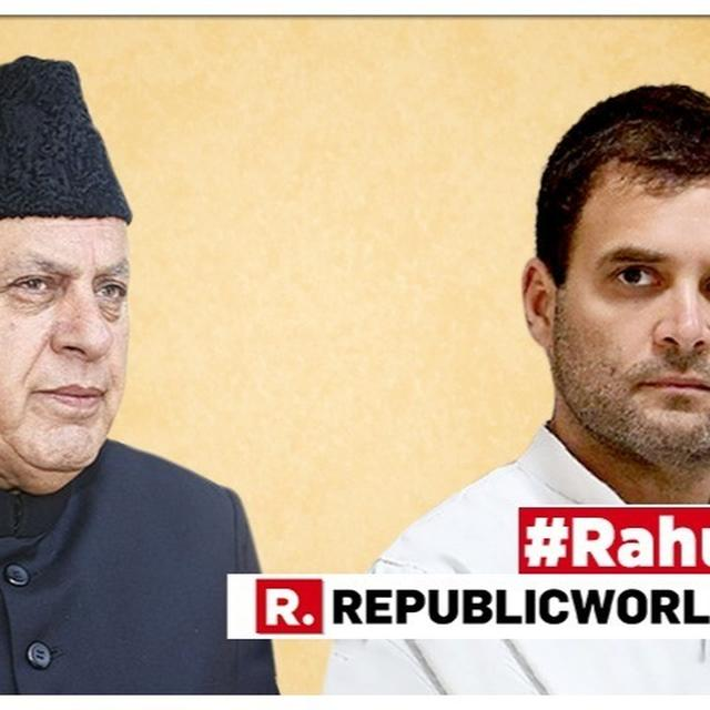 RAHUL GANDHI RESIGNS | FAROOQ ABDULLAH WEIGHS IN, SAYS 'RAHUL ALWAYS WANTED SOMEONE ELSE TO TAKE OVER, HE CAN BECOME PARTY PRESIDENT AGAIN IN FUTURE' AS CONGRESS CHIEF FORMALLY RESIGNS