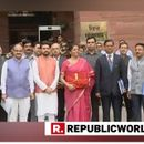 UNION BUDGET 2019: NO BRIEFCASE FOR NIRMALA SITHARAMAN, FINANCE MINISTER USES RED FOLIO AHEAD OF HER MAIDEN BUDGET SPEECH