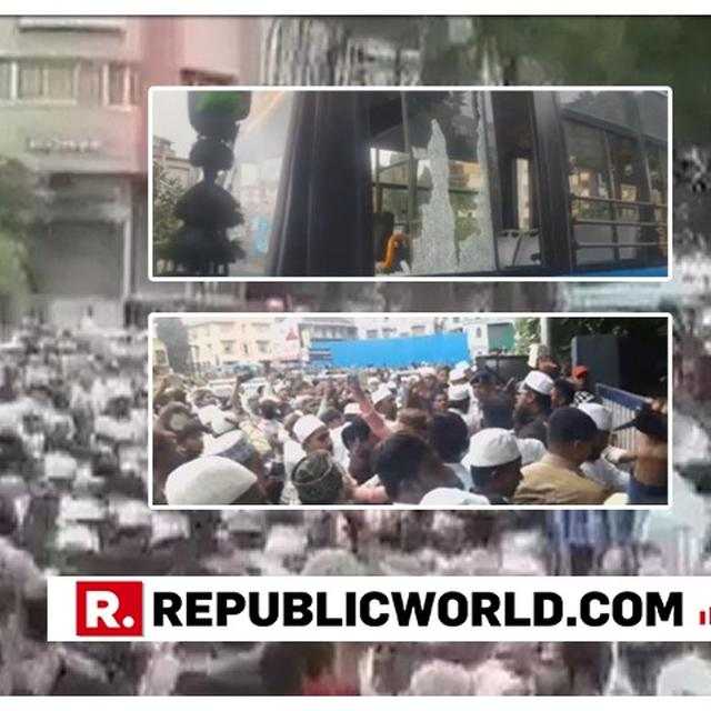 WATCH: CROWD PROTESTING AGAINST MOB LYNCHING CLASH WITH POLICE IN GUJARAT'S SURAT; 5 COPS INJURED