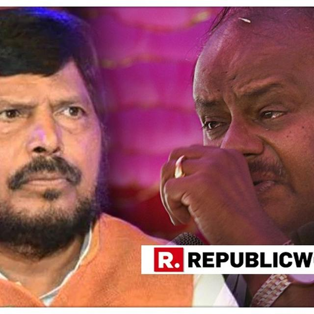 WATCH: AMID KARNATAKA CRISIS RAMDAS ATHAWALE REPEATS 'JOIN BJP' OFFER TO KUMARASWAMY, SAYS 'WE'LL MAKE YOU DEPUTY CM IF NOT CM'