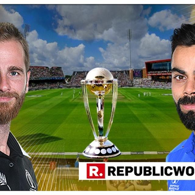WORLD CUP INDIA-NEW ZEALAND SEMIFINAL LIVE: TEAM INDIA GET SET TO CHASE MODERATE NEW ZEALAND TOTAL AS GROUND AND SKY CONCERNS REIGN SUPREME