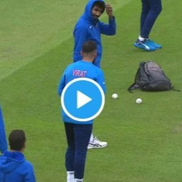 WATCH | 'IMITATION IS THE BEST FORM OF FLATTERY': INDIAN SKIPPER VIRAT KOHLI TRIES TO BOWL LIKE SEAMER JASPRIT BUMRAH