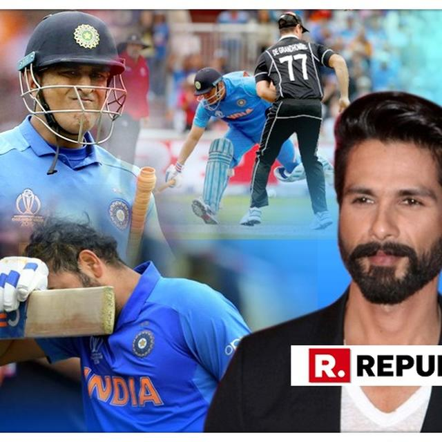 WORLD CUP | FROM SHAHID KAPOOR TO RISHI KAPOOR, HERE'S HOW BOLLYWOOD CELEBRITIES REACTED TO TEAM INDIA'S HEARTBREAKING EXIT