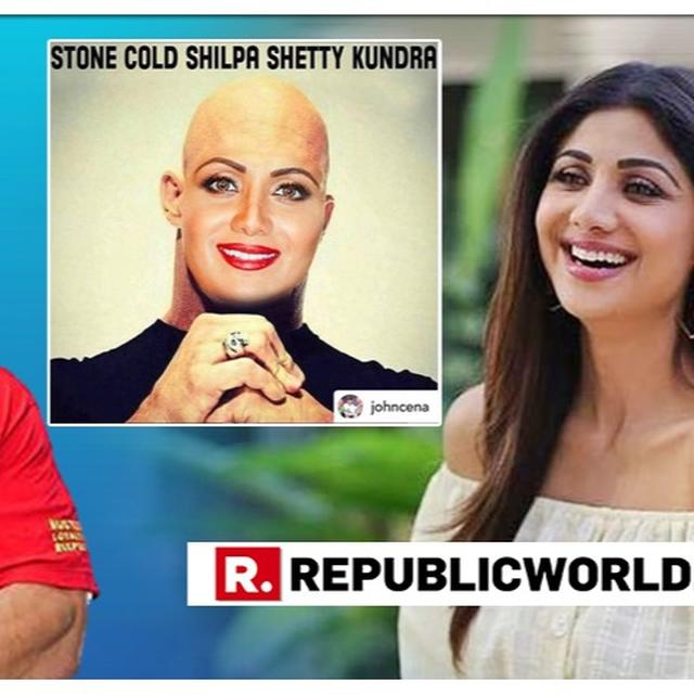 SHILPA SHETTY WAS AS SURPRISED BY JOHN CENA'S BIZARRE SHOUT-OUT TO HER AS EVERYONE ELSE, HERE'S HER REACTION