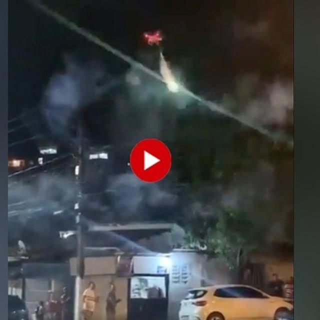 WATCH: MAN USES DRONE-FIRED ROCKETS TO BREAK UP A PARTY IN BRAZIL, NETIZENSROLL OUT 'AIR DEFENCE CAPABILITIES' JOKES