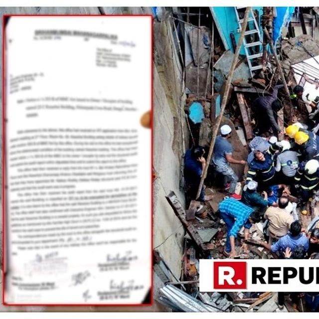 MUMBAI BUILDING COLLAPSE: READ THE 2017 LETTER BMC WROTE TO MHADA ASKING FOR CENTURY-OLD BUILDING TO BE EVACUATED