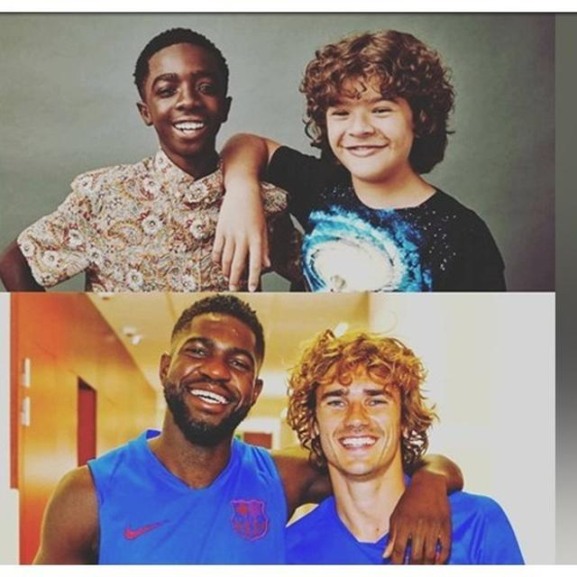 STRANGER THAN STRANGER THINGS: BENGAL PAPER USES SHOW'S DUSTIN & LUCAS TO SHOW THAT ANTOINE GRIEZMANN & SAMUEL UMTITI ARE CHILDHOOD BUDDIES