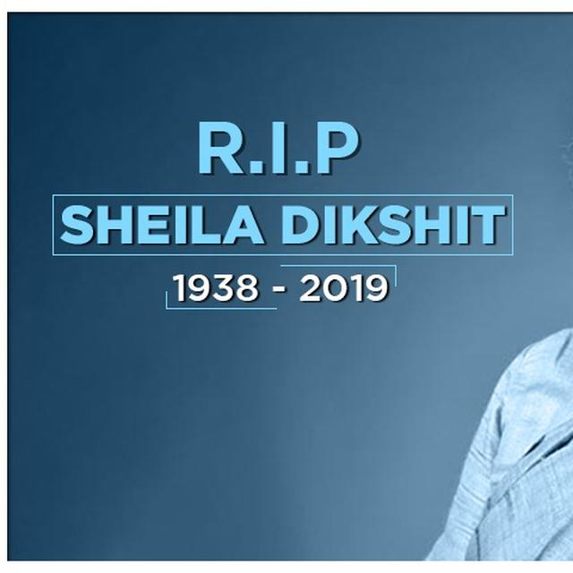 FORMER DELHI CM SHEILA DIKSHIT PASSED AWAY,  LAST RITES TO BE PERFORMED AT NIGAMBODH GHAT: LIVE UPDATES