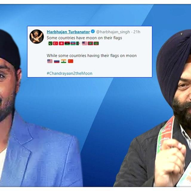 'DON'T THINK HE'S DONE ANYTHING WRONG': MAJINDER SIRSA DEFENDS HARBHAJAN SINGH OVER HIS CONTROVERSIAL TWEET AFTER CHANDRAYAAN 2 LAUNCH