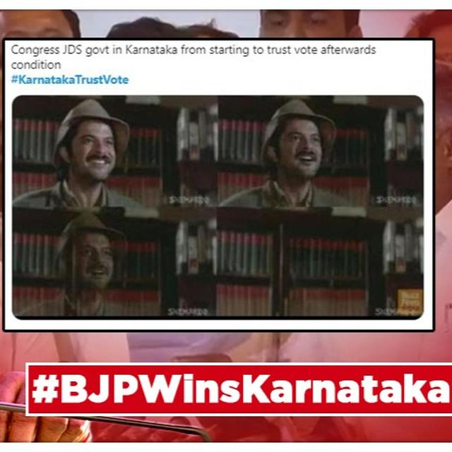 CONGRESS-JDS KARNATAKA COALITION'S FALL TRIGGERS MEME FEST ON SOCIAL MEDIA. HERE ARE SOME OF THE BEST