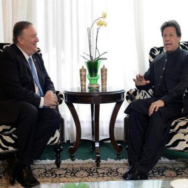 POMPEO MEETS IMRAN KHAN, DISCUSSES PAK'S ROLE IN AFGHAN PEACE PROCESS AND COUNTERTERRORISM
