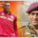 ARMY-BOUND MS DHONI GETS HUGE SALUTE FROM SHELDON COTTERELL, 'THIS MAN'S AN INSPIRATION' SAYS WINDIES STAR