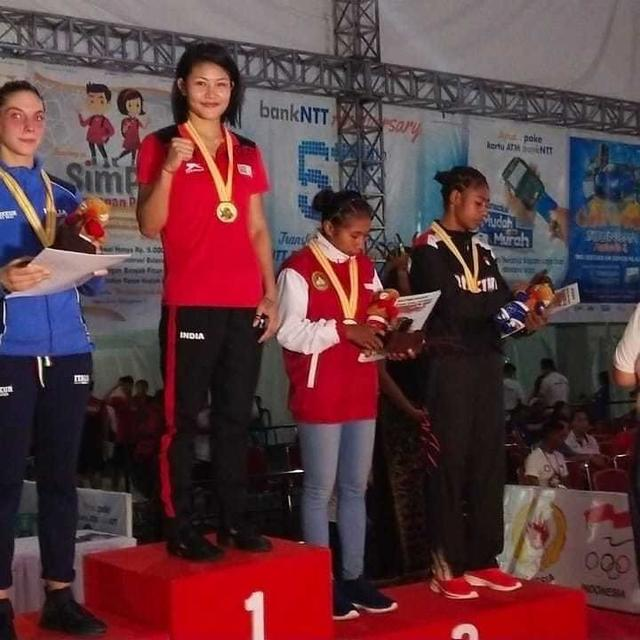 RIFLEWOMANJAMUNA BORO STRIKES GOLD FOR INDIA AFTER BEATING ITALY'S GIULIA LAMAGNA 5-0 AT PRESIDENT'S CUP