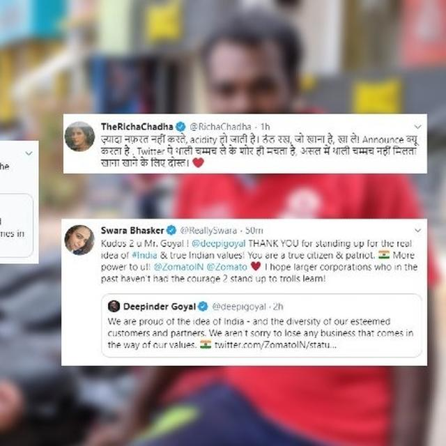 ZOMATO'S FITTING 'FOOD HAS NO RELIGION' RESPONSE TO BIGOTED DEMAND GETS 5-STAR REVIEW FROM TWITTERATI