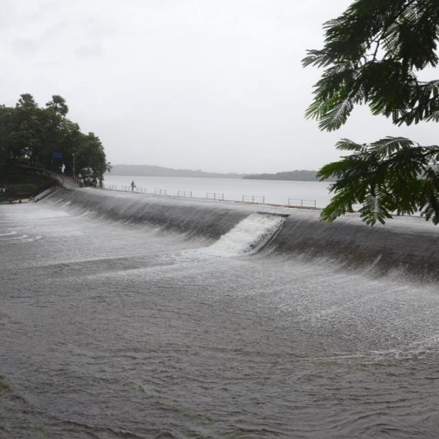 MUMBAI RAINS: SECOND-WETTEST JULY FOR 60 YEARS LEAVES VIHAR LAKE AND THREE OTHERS OVERFLOWING