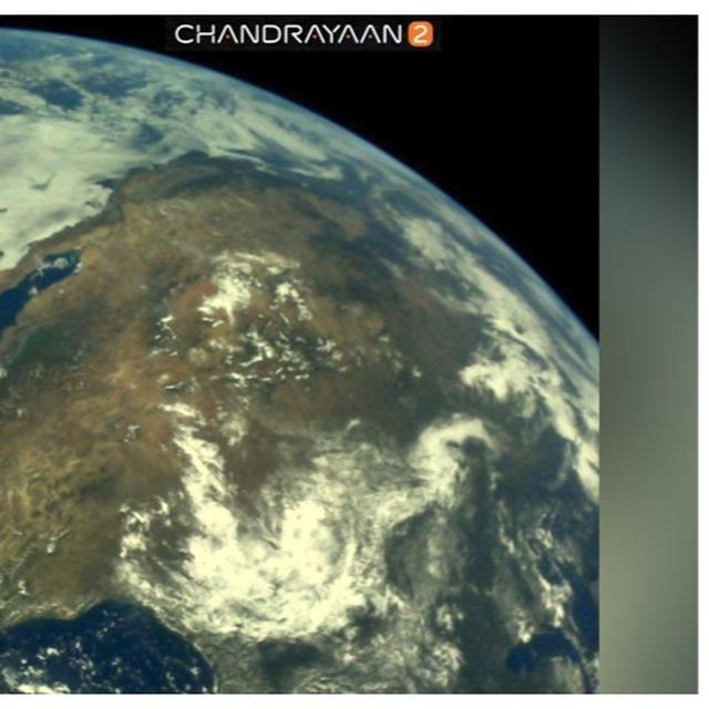 CHANDRAYAAN 2: ISRO SHARES FIRST SET OF PICTURES OF EARTH CAPTURED FROM OUTER SPACE