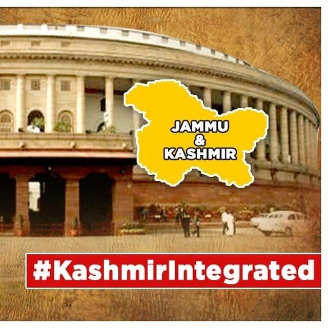 J&K'S ARTICLE 370 TO GO, PDP MP MIR MOHAMMAD FAYAZ TEARS COPY OF CONSTITUTION & HIS OWN KURTA, GETS ORDERED OUT