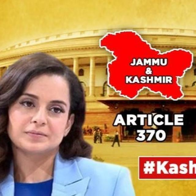 J&K'S ARTICLE 370 TO GO: KANGANA RANAUT'S WISH COMES TRUE, ACTRESS THANKS MODI GOVT FOR TURNING 'UNTHINKABLE INTO REALITY'