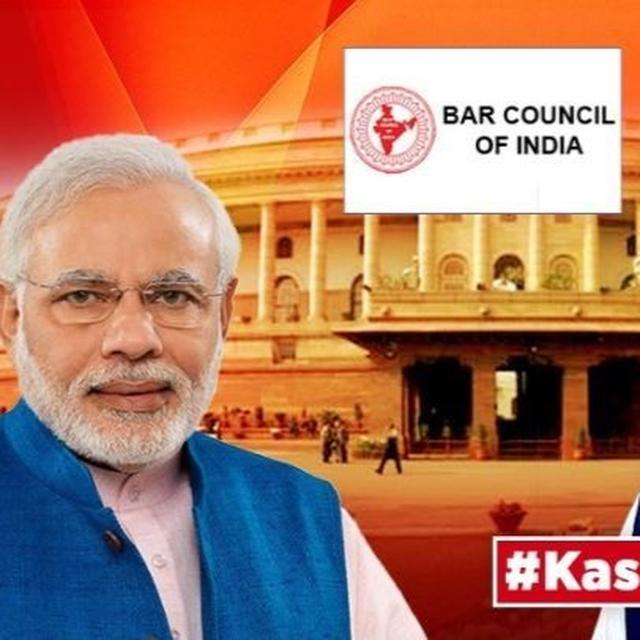 J&K'S ARTICLE 370 SCRAPPED, BAR COUNCIL OF INDIA CONGRATULATES MODI GOVERNMENT