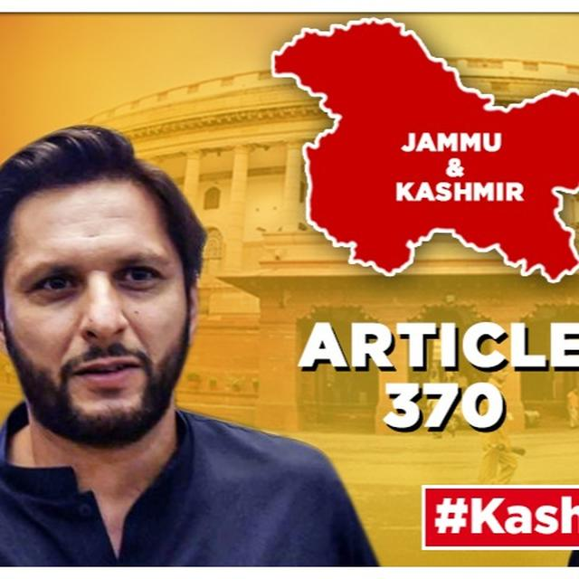 J&K'S ARTICLE 370 SCRAPPED: SHAHID AFRIDI INSULTS UNITED NATIONS, APPEALS TO DONALD TRUMP