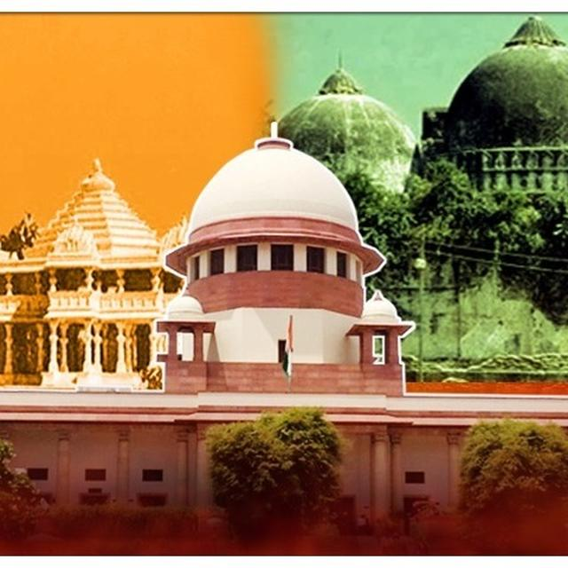 AYODHYA CASE: SC ASKS HOW BIRTH PLACE CAN BE MADE PARTY TO LAND DISPUTE