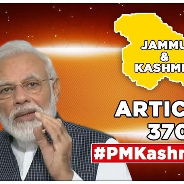 """PM MODI TEARS INTO ARTICLES 370 & 35A, SAYS """"J&K WAS LEAST BENEFITED, ONLY PAKISTAN AND ITS AGENTS WERE"""""""