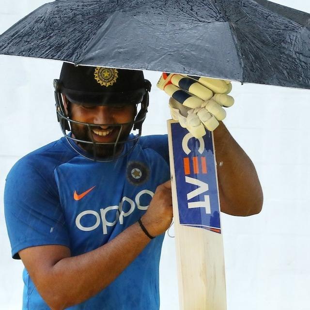 INDIA VS WEST INDIES: ROHIT SHARMA ATTEMPTS PRACTICE OUTSIDE, SCURRIES INSIDE TO FIND ROOM AFTER RAIN STRIKES