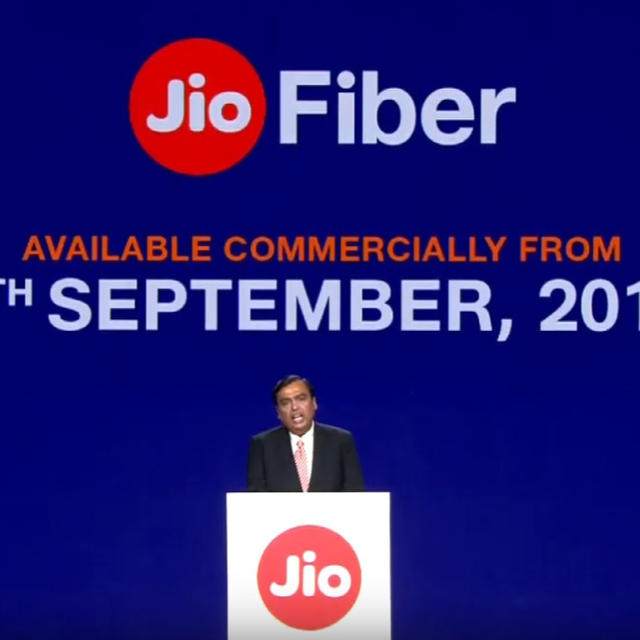 RELIANCE JIO FIBER BROADBAND SERVICE COMMERCIAL ROLL-OUT BEGINS SEPTEMBER 5, 2019