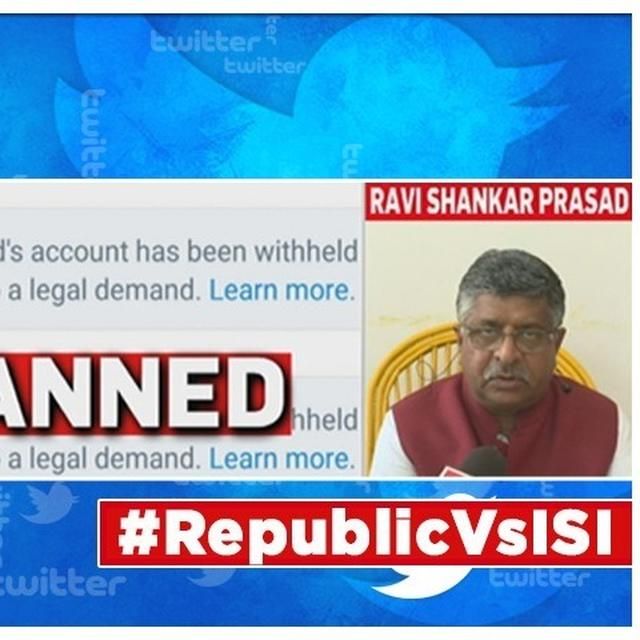 UNION LAW MINISTER RAVI SHANKAR PRASAD REACTS TO PAK PROPAGANDA ON SOCIAL MEDIA, SAYS 'WILL NOT ALLOW ISI TO ABUSE INDIAN DIGITAL SPACE'
