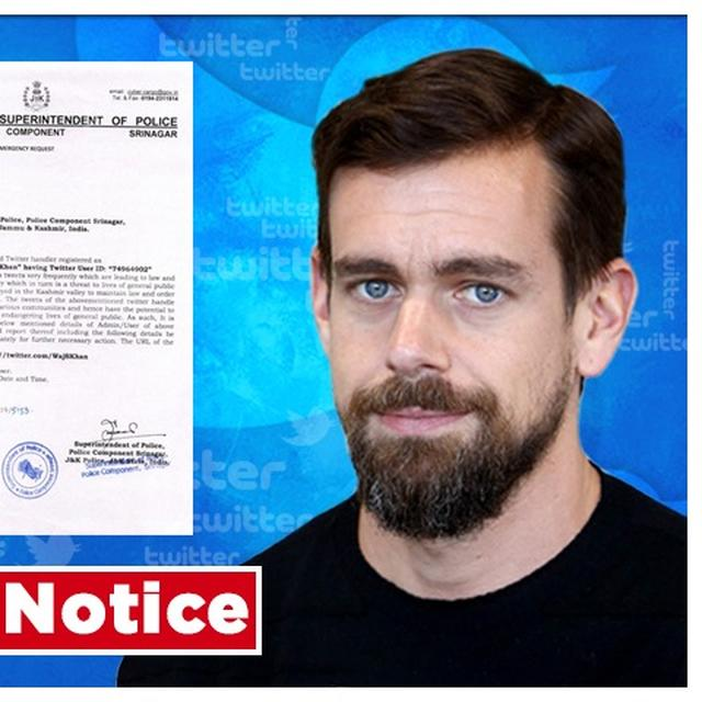 MASSIVE: J&K POLICE ISSUES NOTICE TO TWITTER HQ, SEEKS DETAILS OF FAKE NEWS-SPREADING HANDLE. READ LETTER