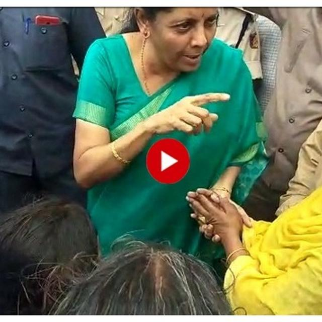 NIRMALA SITHARAMAN STOPS HER CONVOY TO MEET A FLOOD VICTIM IN KARNATAKA'S BELGAVI, ASSURES HER RELIEF