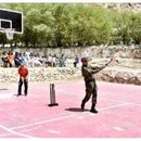 LT COL MS DHONI PLAYS CRICKET IN LEH IN FULL ARMY ACCOUTREMENTS, CSK SAYS 'WHISTLE PODU'