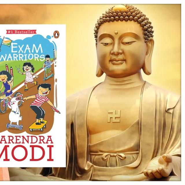 PRIME MINISTER NARENDRA MODI SAYS THAT HIS BOOK EXAM WARRIORS HAS BEEN WRITTEN BASED ON LORD BUDDHA'S TEACHINGS