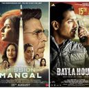 BOX OFFICE: 'MISSION MANGAL' CROSSES RS. 50 CRORE MARK ON DAY 3, 'BATLA HOUSE' SHOWS SUBSTANTIAL GROWTH