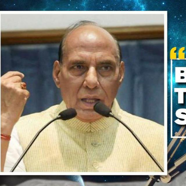 RAJNATH SINGH STANDS WITH ISRO
