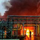 MASSIVE FIRE BREAKS OUT IN ONGC