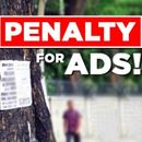 CHENNAI FINES FOR BANNERS ON TREES